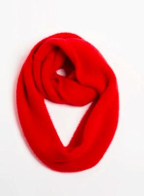 Angora infinity scarf red
