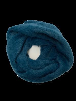 Angora infinity scarf teal