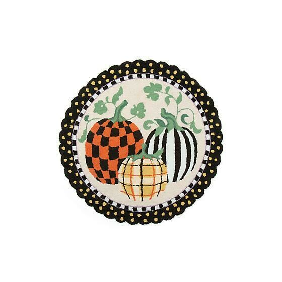 Pumpkin patch rug 3 ft round