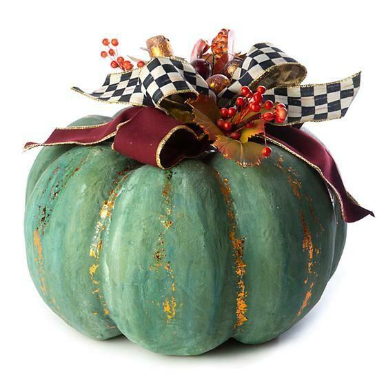 Verdigris pumpkin large