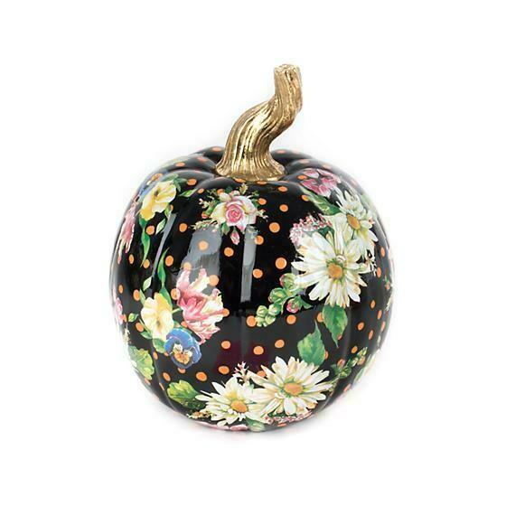 Flower market pumpkin small black