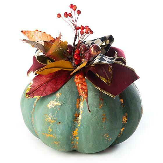 Verdigris pumpkin small