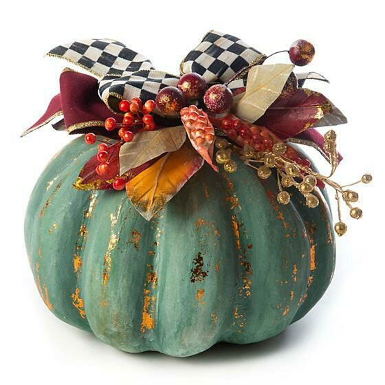 Verdigris pumpkin medium