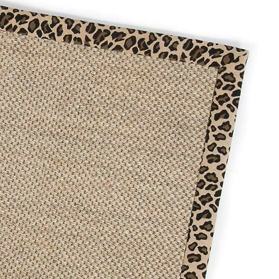 Leopard sisal rug 2x3
