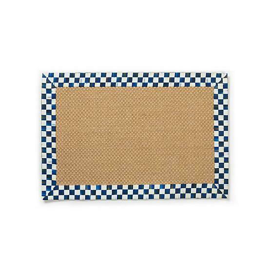 Royal check sisal rug 2x3