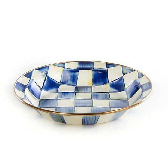 Royal Check Pie Plate