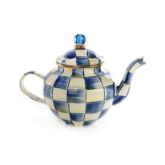 Royal check teapot