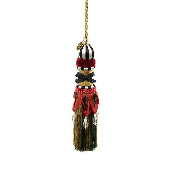 Corset tassel red and green