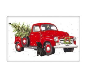 Holiday truck bagged towel