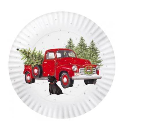 Holiday truck melamine platter