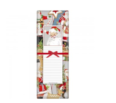 Santa winking notepad set