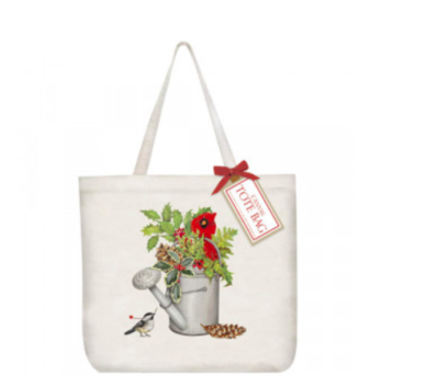 Holly water can tote bag