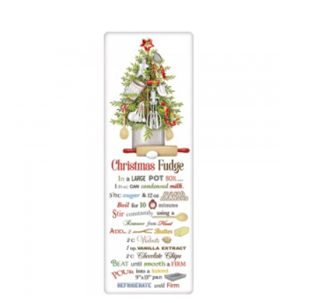 Christmas fudge recipe towel