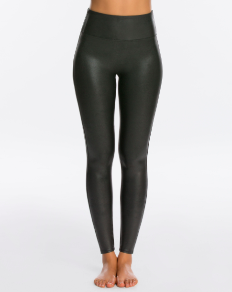 Faux leather leggings medium black