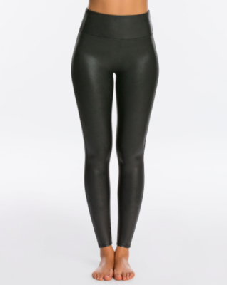Faux leather leggings small black