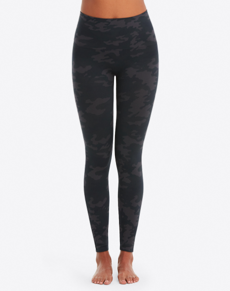 Seamless leggings large black camo