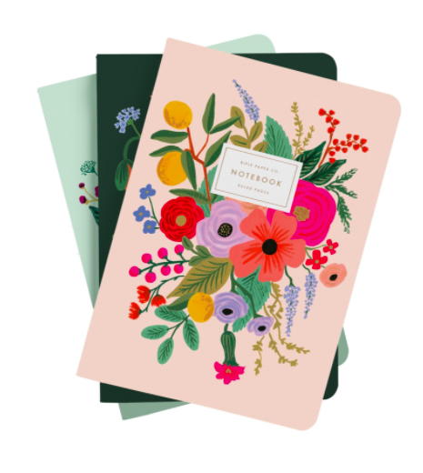 Set of 3 notebooks garden party