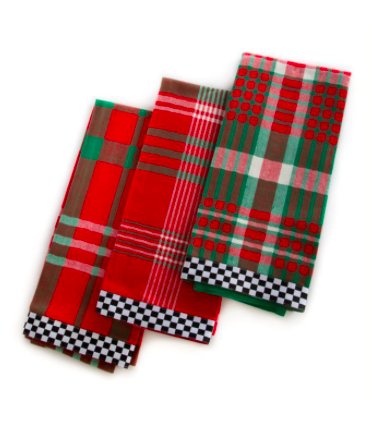 Merry christmas dish towels set of 3