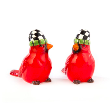 Night cap cardinals salt and pepper set