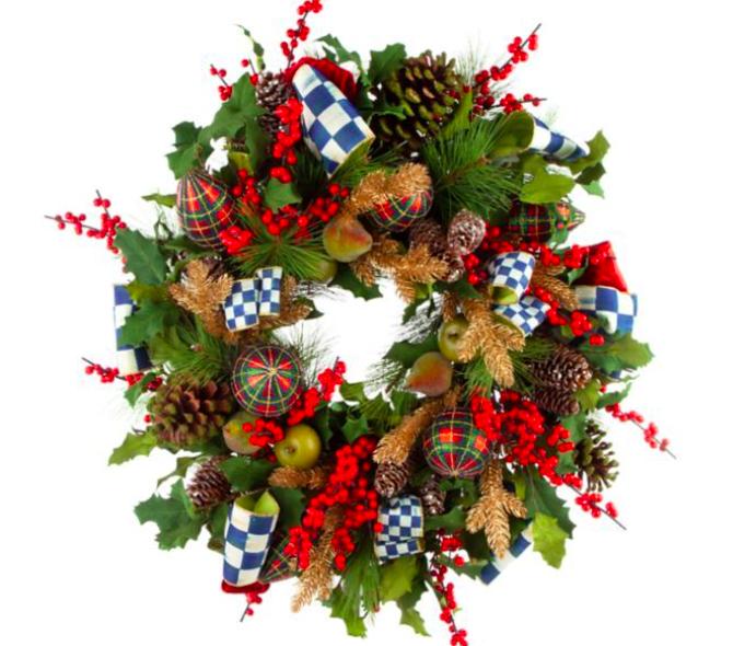 Royal check wreath