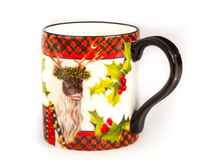 Santas reindeer mug