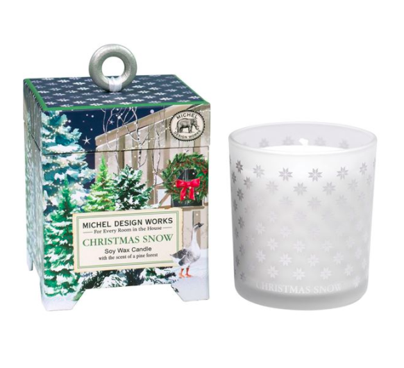 Christmas snow soy wax candle