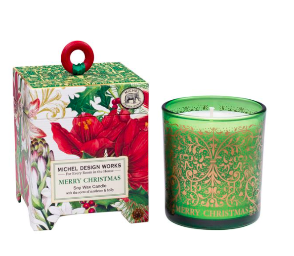 Merry christmas soy wax candle