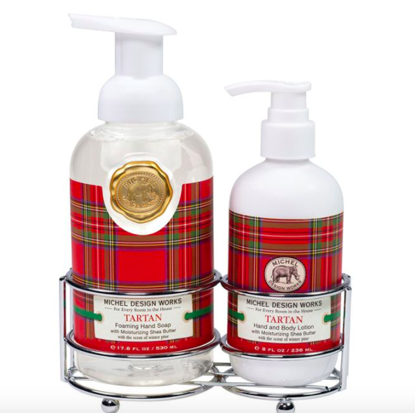 Tartan hand care caddy