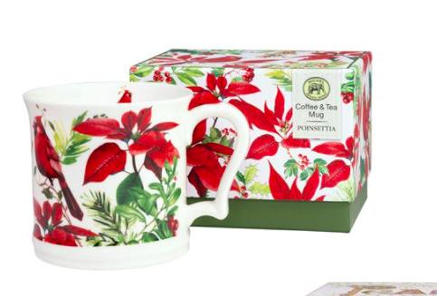 Poinsettia gift mug
