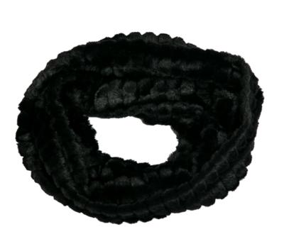 Faux fur loop scarf black