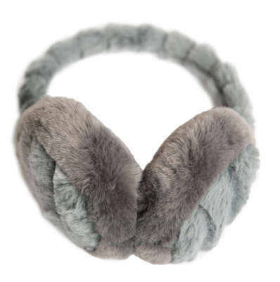 Gray chinchilla ear muffs