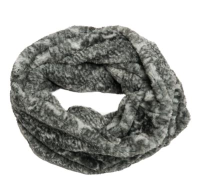 Faux fur loop scarf gray snake