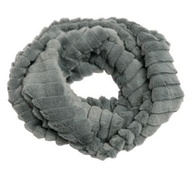 Faux fur loop scarf gray