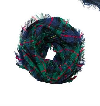 Plaid infinity scarf irish green plaid
