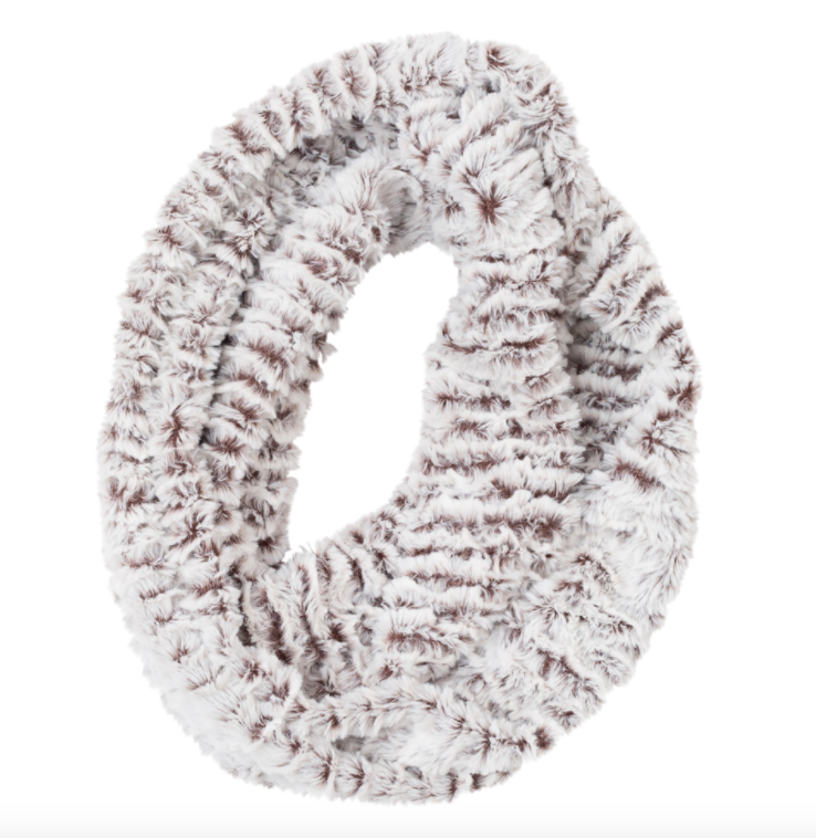 Faux fur loop scarf ice mink