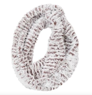 Faux fur loop scarf ice mink