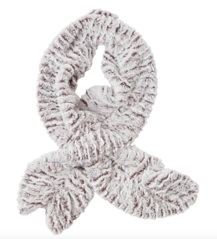 Faux fur key hole scarf ice mink