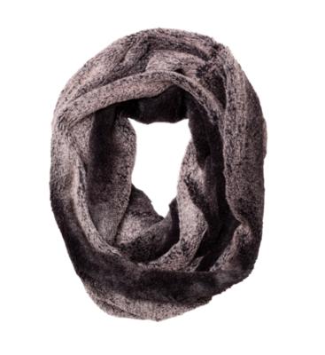 Faux fur loop gray mink