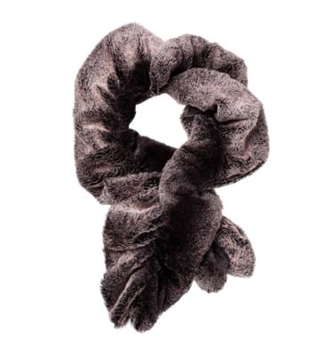 Faux fur key hole scarf gray mink