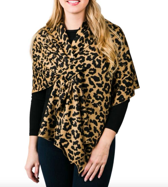 Katie wrap leopard