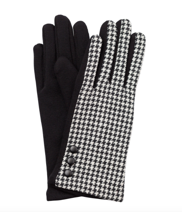 Lucia gloves houndstooth