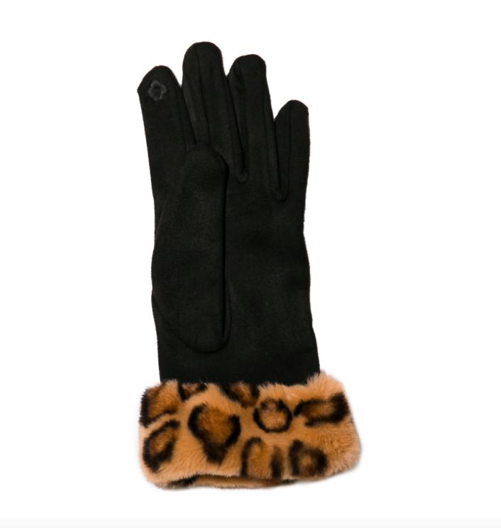 Sheila glove leopard cuff