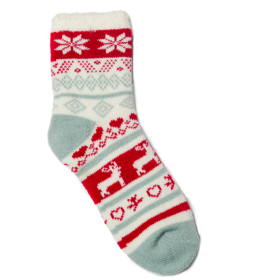 Cupid socks red and gray