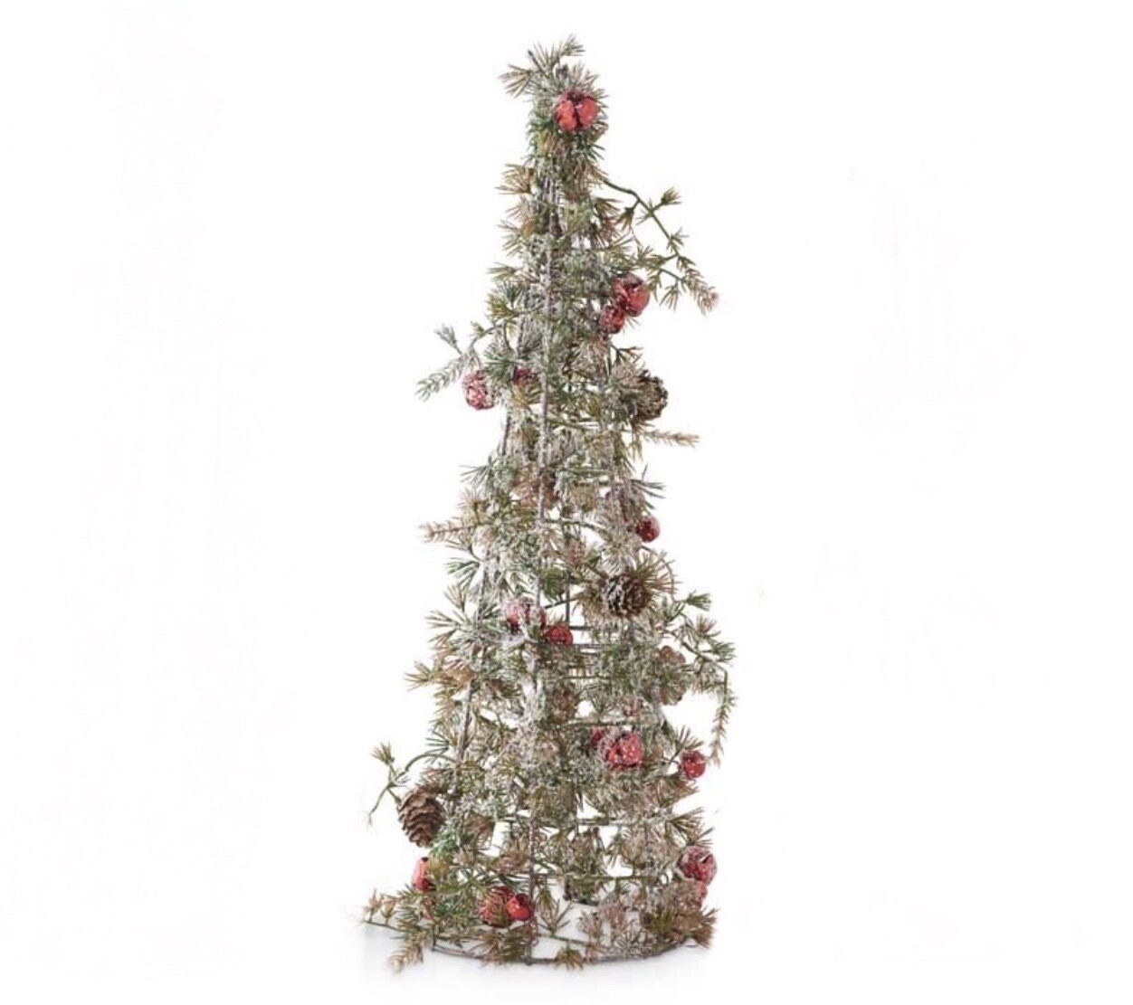 Snowy pinecone tree medium