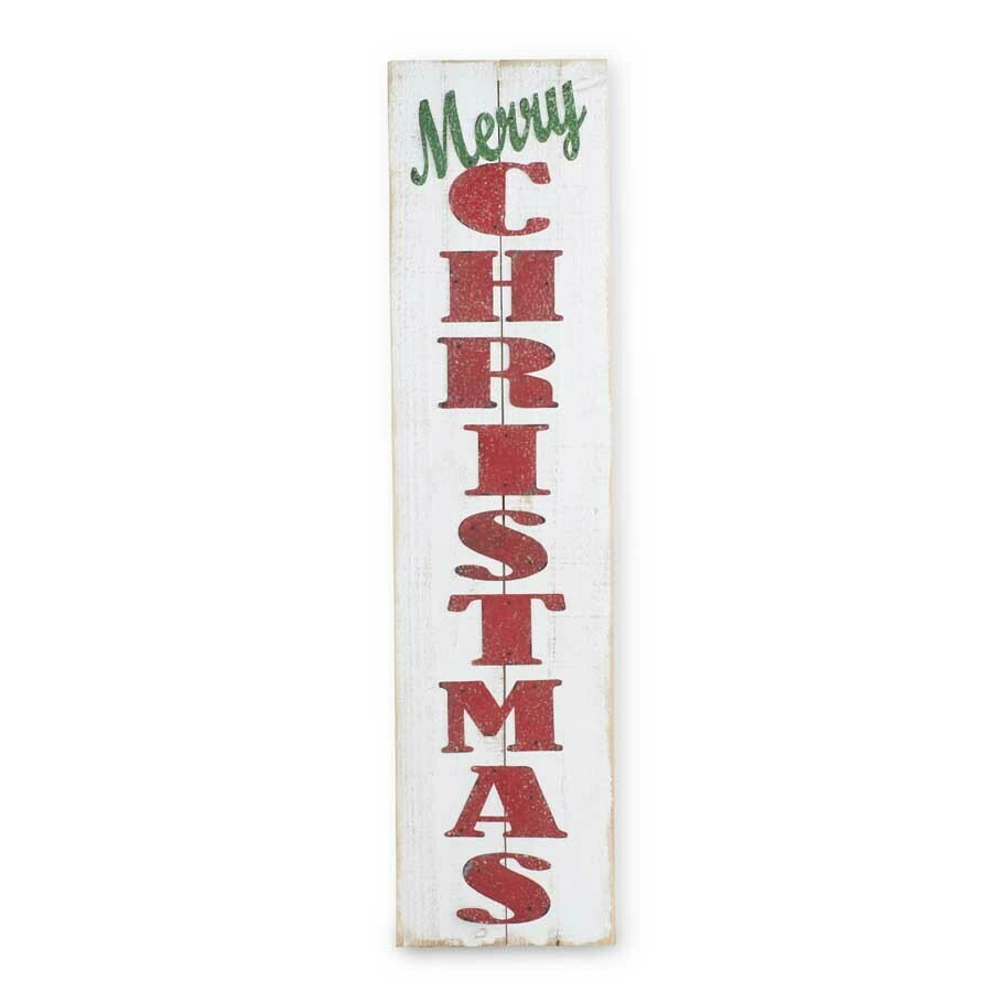 Merry christmas white wood  wall sign 47 inch