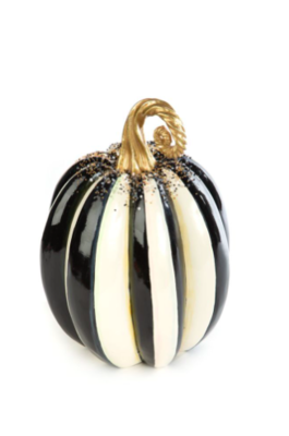 Beaded Stripe Pumpkin - Medium