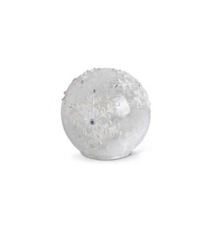 Glass globe snowflake 5.5 inch