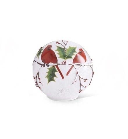 Glass globe cardinal 5.5 inch