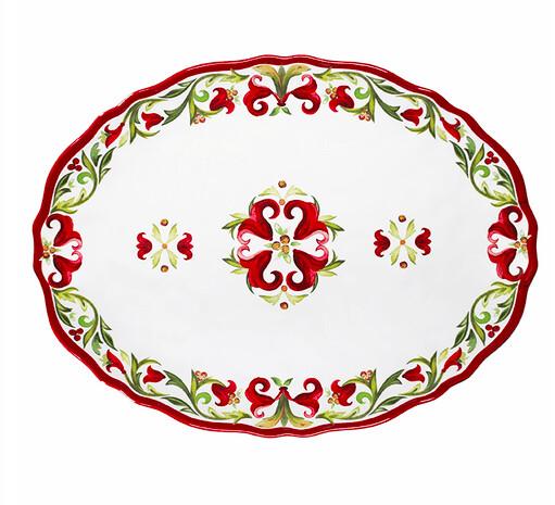 Oval platter vischio