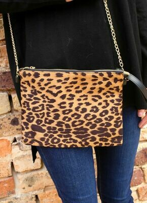 Leopard crossbody with chain